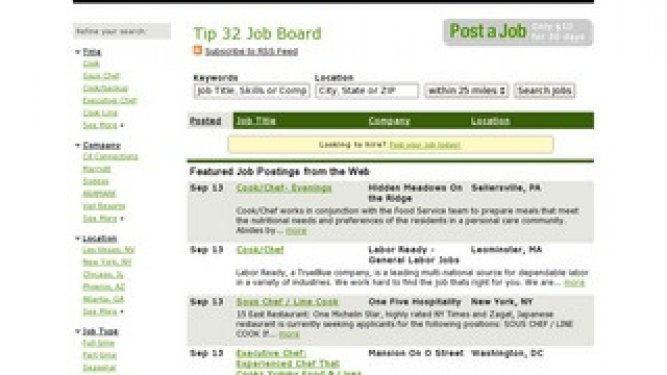Tip 32 Launches Job Board