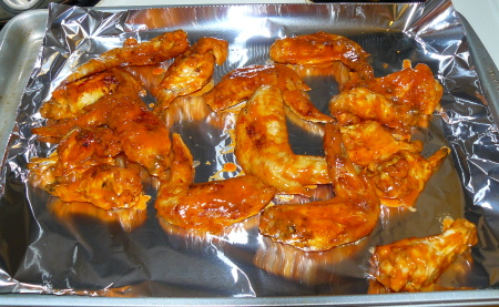 Coated Chicken Wings Go Back In The Oven for another 10-5 minutes
